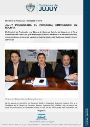 jujuy presentará su potencial empresario en bolivia - Gobierno de la ...
