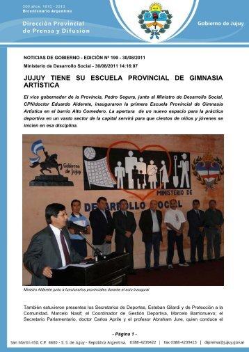jujuy tiene su escuela provincial de gimnasia artística - Dirección de ...