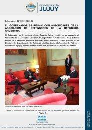 el gobernador se reunió con autoridades de la asociación de ...