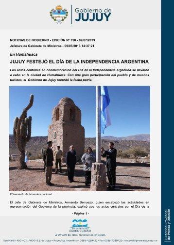 jujuy festejó el día de la independencia argentina - Dirección de ...