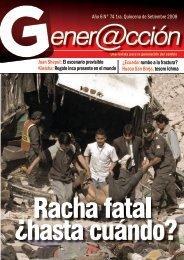 Año 6 N° 74 1ra. Quincena de Setiembre 2008 ... - Generaccion.com