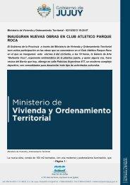 INAUGURAN NUEVAS OBRAS EN CLUB ATLETICO PARQUE ROCA