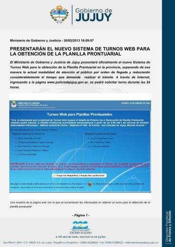presentarán el nuevo sistema de turnos web para la obtención de la ...