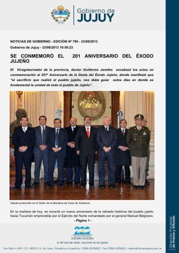 SE CONMEMORÓ EL 201 ANIVERSARIO DEL ÉXODO JUJEÑO