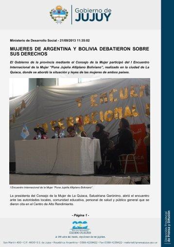 mujeres de argentina y bolivia debatieron sobre sus derechos