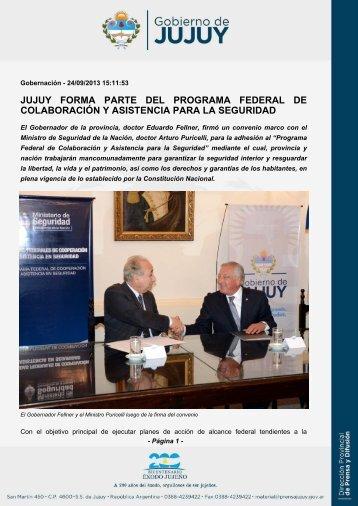 jujuy forma parte del programa federal de colaboración y asistencia ...