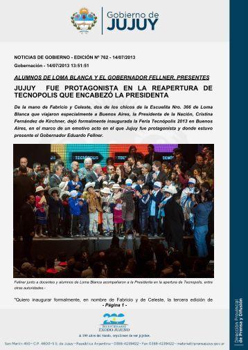 jujuy fue protagonista en la reapertura de tecnopolis que encabezó ...