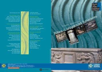 Rites et croyances funéraires dans l'Antiquité romaine - Musée ...