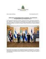 Nota de Prensa, Aniversario de Centroamérica