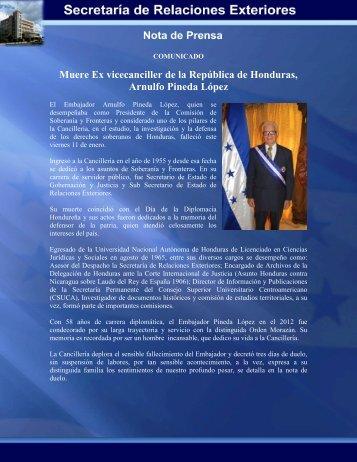 Secretara De Relaciones Exteriores De Honduras Share The Knownledge