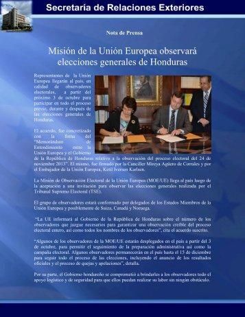 Misión de la Unión Europea observará elecciones generales de ...
