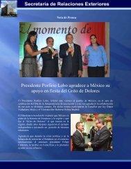 Presidente Porfirio Lobo agradece a México su apoyo en fiesta del ...
