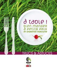 bien manger à petits prix - DRAAF Poitou-Charentes