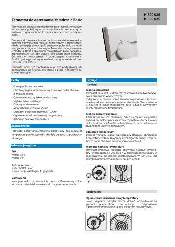 Termostat Basic ogrzewanie - chłodzenie 230V/24V - KAN-therm