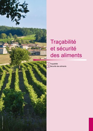 Traçabilité et sécurité alimentaire - Chambre d'Agriculture de la ...