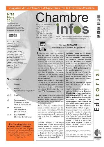 Note commune r sistances 2013 la chambre d 39 agriculture - Chambre d agriculture charente maritime ...