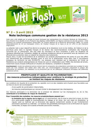 Notetechniquecommunevigne2016 validee - Chambre d agriculture charente ...