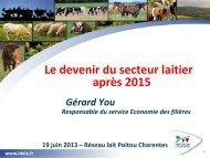 Le devenir du secteur laitier après 2015 - La Chambre d'Agriculture ...