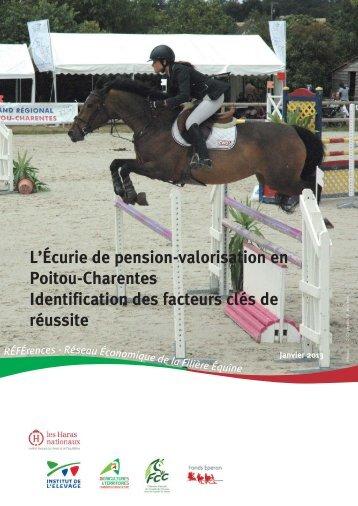 L'écurie de pension-valorisation en Poitou-Charentes