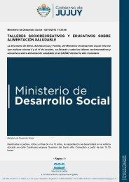 talleres sociorecreativos y educativos sobre alimentación saludable