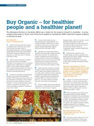 Buy Organic – for healthier people and a healthier planet!
