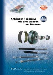 Anhänger Reparatur mit BPW Achsen und Bremsen