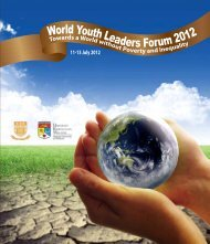 World Youth Leaders Forum 2012 - The Chinese University of Hong Kong