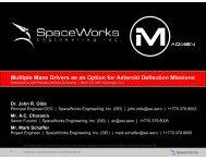 Presentation - SpaceWorks Enterprises, Inc.
