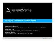 Engineering Economics Group (EEG) - SpaceWorks Enterprises, Inc.