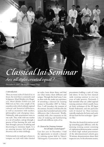 Classical Iai Seminar