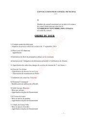 Ordre du jour du 5 novembre 2010 - Les Avirons