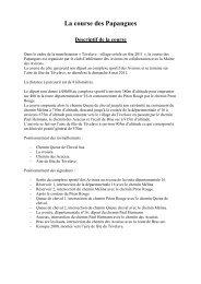 Descriptif course - Les Avirons