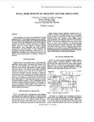 Total dose effects on negative voltage regulator - Robust Design ...