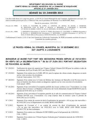 N° 139/2011 Signature d'un contrat avec la SARL ... - Roquevaire