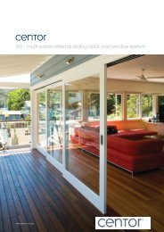 WS - multi-panel external sliding door and window system - Centor