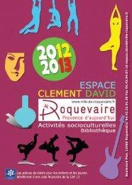 16p plaq ECCD 2012 2013_Mise en page 1 - Roquevaire