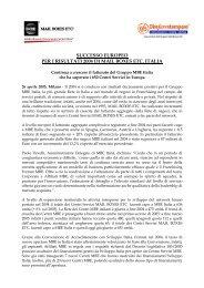 successo europeo per i risultati 2004 di mail boxes etc. italia