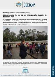 recordaron el día de la prevención sismica en escuela cgt