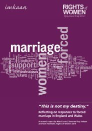 IMKAAN ROW Forced Marriage Report