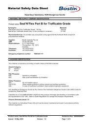 Seal'N'Flex Part B for Trafficable Grade - All Fasteners