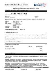 Bostik 6189 Hot Melt - All Fasteners