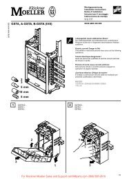 GSTA, A-GSTA, B-GSTA (IVS) - Klockner Moeller Parts