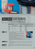 Soft Solders and Fluxes - Johnson Matthey Metal Joining - Page 7
