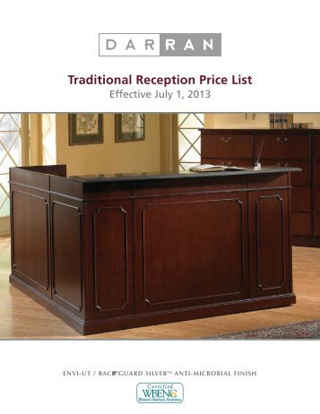 Traditional Reception Price List - DARRAN Furniture Industries
