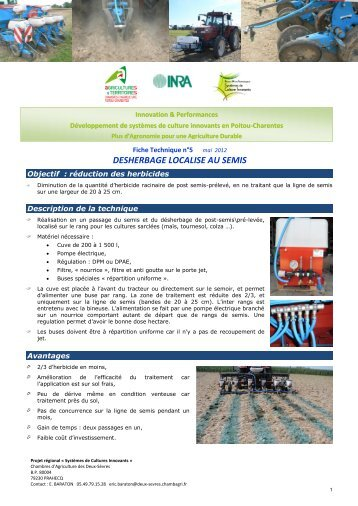 10 semis par recouvrement - Chambre d agriculture charente maritime ...
