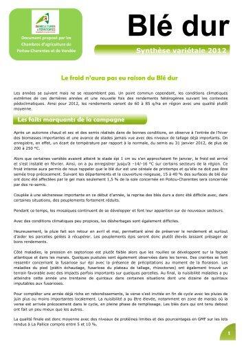 Orge Hiver - La Chambre D'Agriculture De Charente-Maritime.