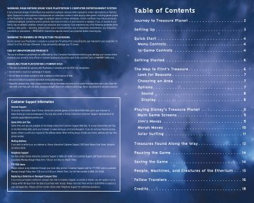 Table of Contents - Disney Interactive Studios