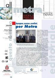 News Architetti N° 28.indd - Metra SpA