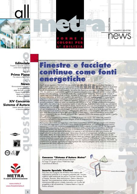 News Architetti N° 23 - Metra SpA