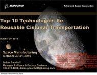 Top Ten Technologies for Reusable Cislunar Transportation